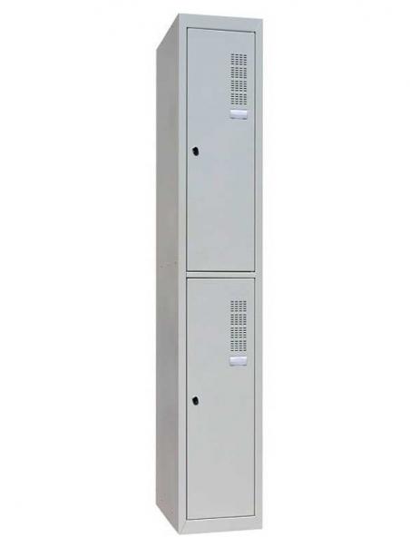 Шкаф одежный металлический ШОМ-400/1-2