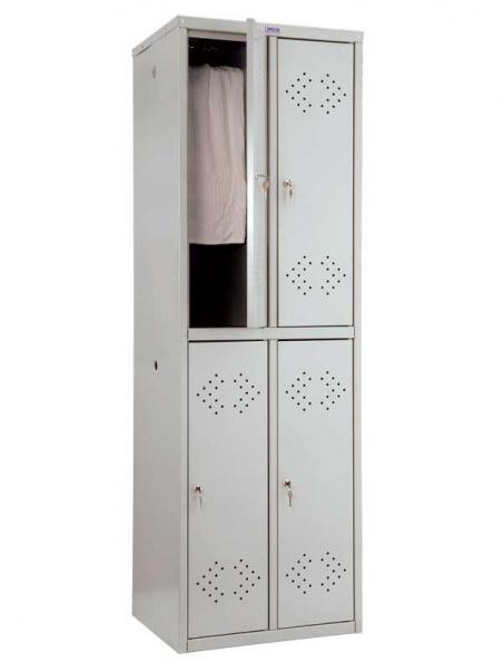 Шкаф для одежды металлический ПРАКТИК LS-22