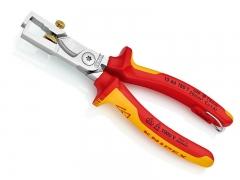Клещи для удаления изоляции, с функцией резания кабеля со страховочным креплением, Knipex StriX 13 66 180 T