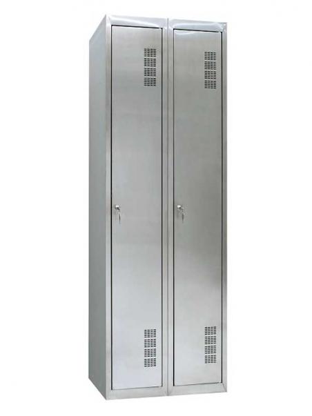 Шкаф одежный из нержавеющей стали ШОМН-400/2