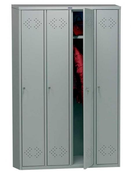 Шкаф для одежды металлический ПРАКТИК LS-41