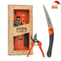 Подарочный набор BAHCO, секатор + складная обрезная пила, GIFTPACK396HP