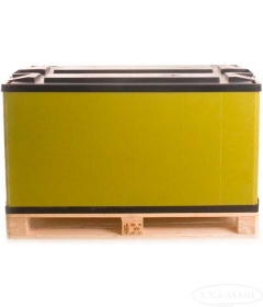 Контейнер пластиковый 700 с крышкой для установки на деревянный поддон