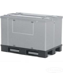 Контейнер пластиковый 1000 на полимерном поддоне с крышкой