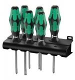 Набор отверток Wera Kraftform Plus Lasertip + подставка 335/350/355/6, 05105622001