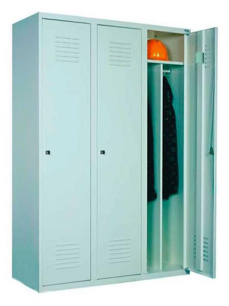 Трехдверный металлический одежный шкаф Sum 330
