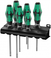 Набор отверток WERA Kraftform Plus Lasertip 334/6 Rack, 05105650001